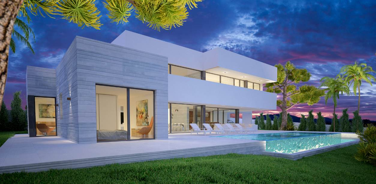 Mhc constructions casas modernas the construction company in marbella and malaga for Residencias modernas