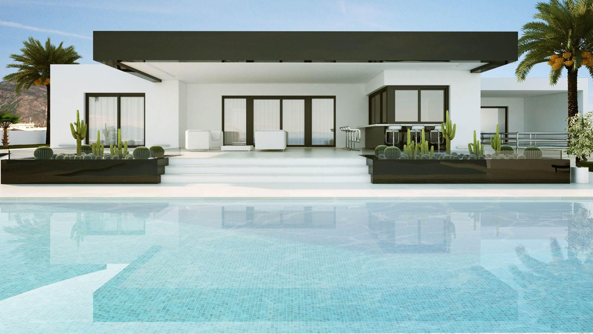 Mhc constructions 5 casas modernas for Frentes de casas modernas planta baja